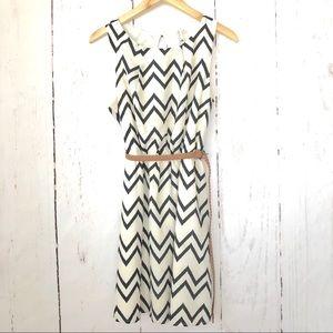 Mod Cloth Chevron Print Sleeveless Mini Dress